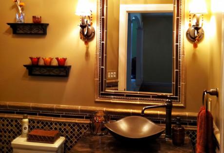 Bronze Powder Room