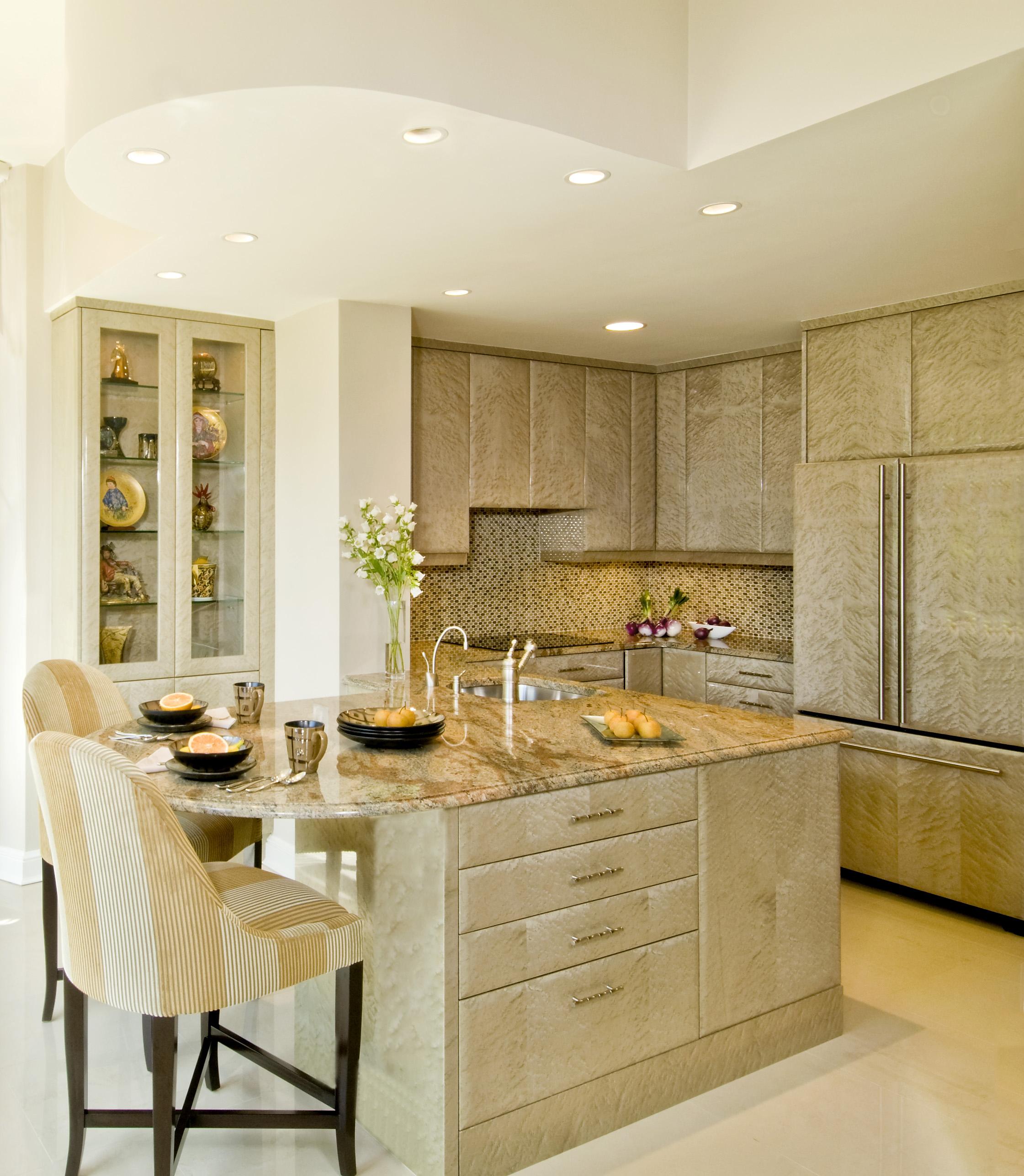 Bright luxurious kitchen details