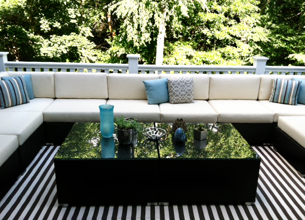 Outdoor sectional with ample seating