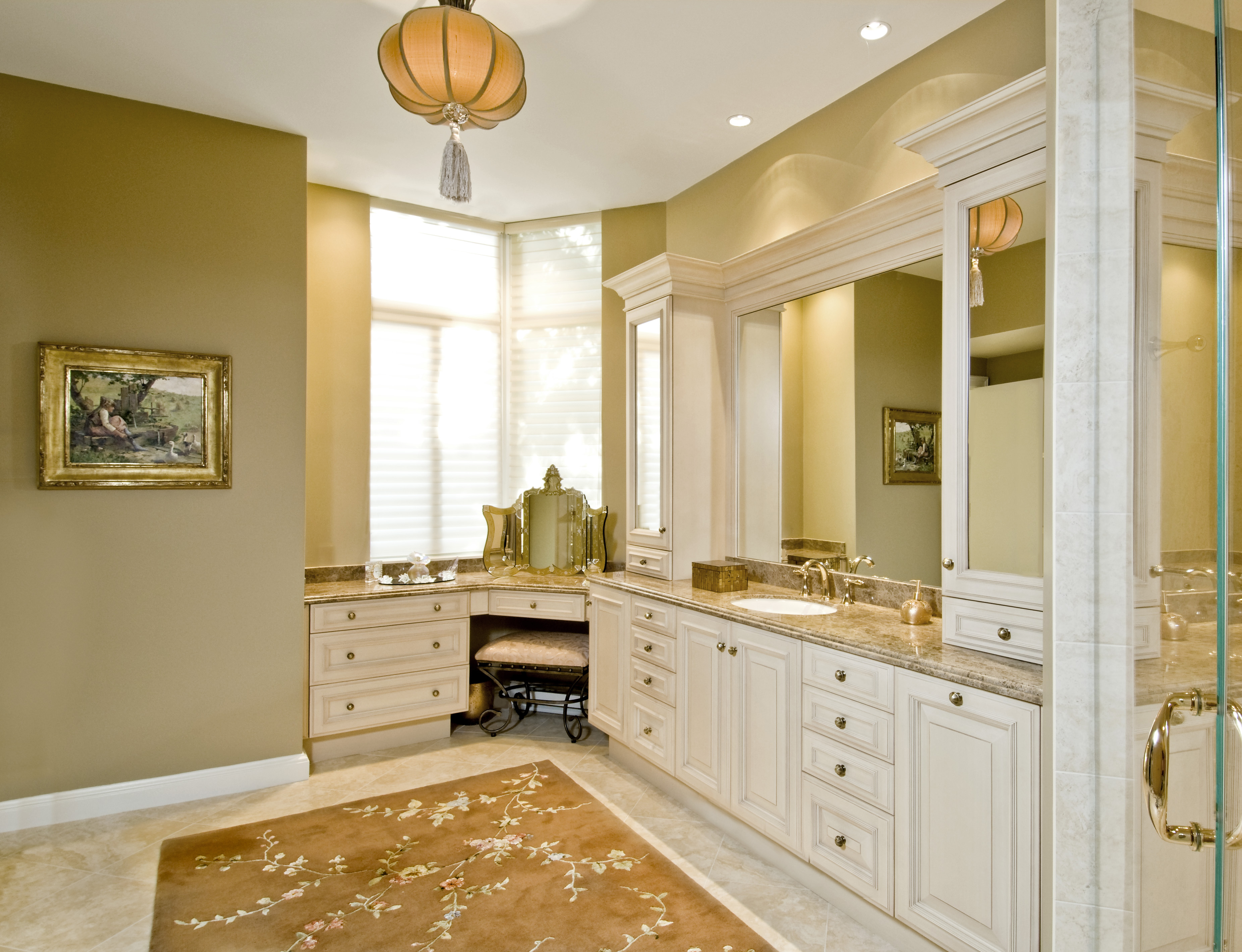 Luxurious master bath you 39 re home custom interiors for Luxury bathroom vanity cabinets