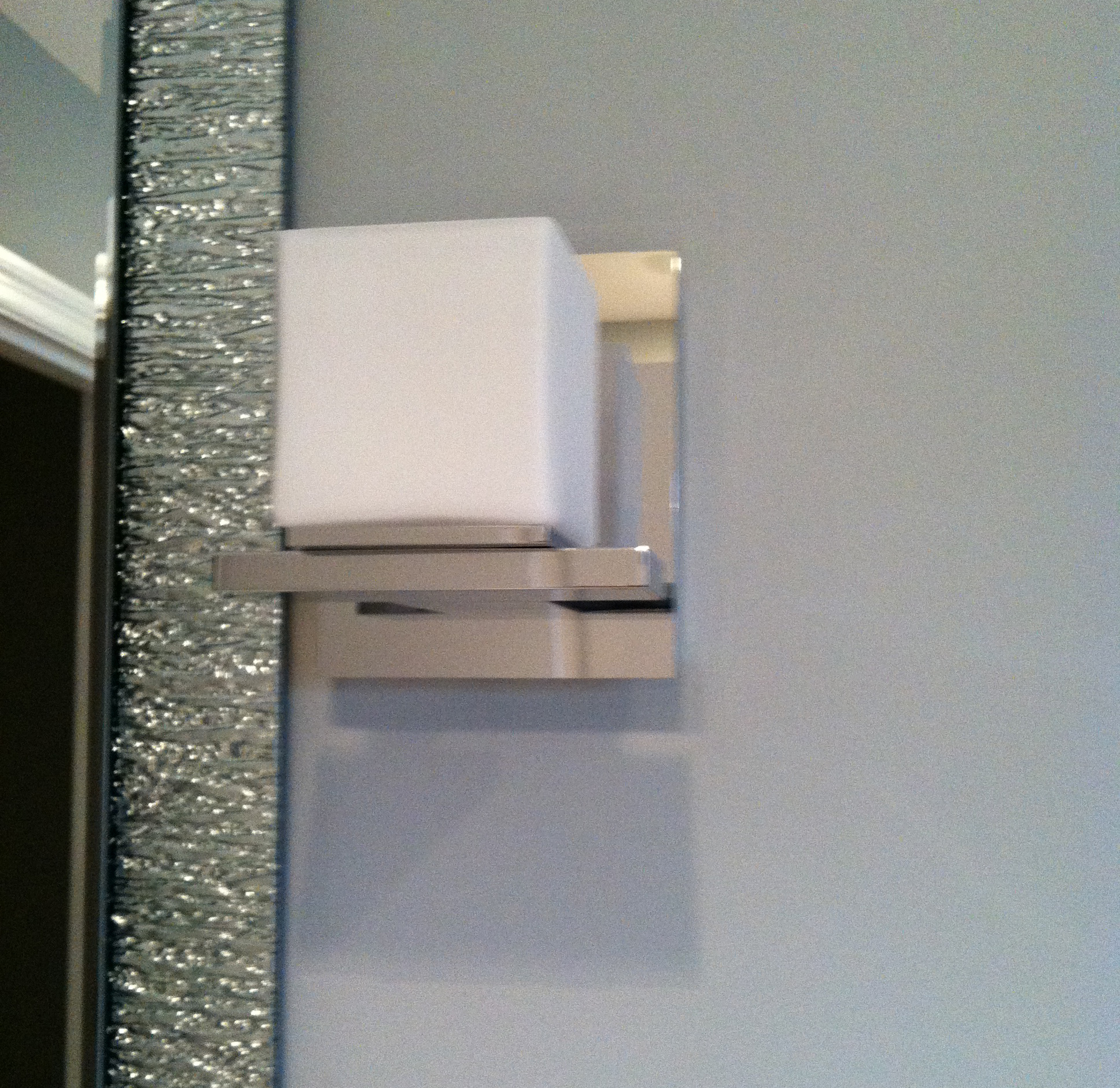 Modern Bathroom Sconce Detail