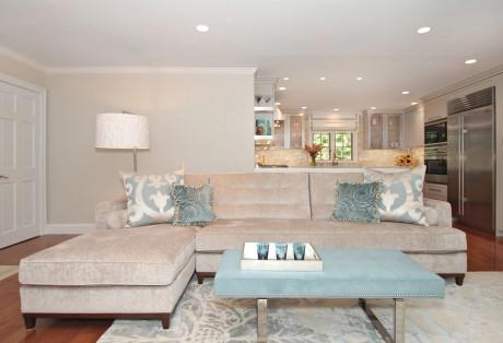 Modern Family Room & Kitchen